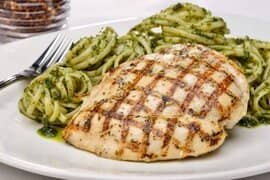 Grilled Chicken with Pesto linguine